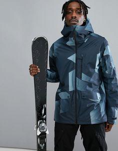 Peak Performance Hakuba Print Ski Jacket In Blue - Blue Asos Online Shopping, Online Shopping Clothes, Mens Ski Wear, Peak Performance, Mode Online, Ski And Snowboard, Latest Fashion Clothes, Skiing, Rain Jacket