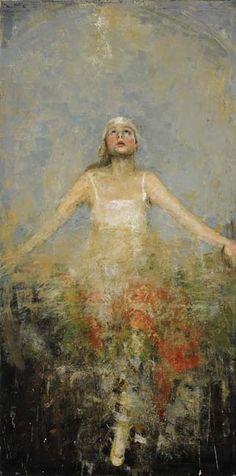 Goxwa, Awakening, Oil and Wax on Canvas. #art #encaustic #axelle