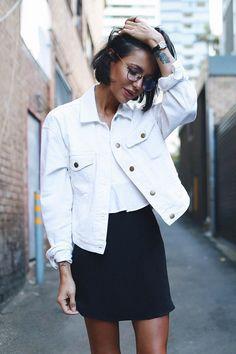 jaqueta jeans branca
