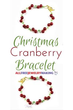 Simple bracelets like this one are perfect for a little holiday inspired glamour… - Christmas Jewelry Diy Christmas Necklace, Holiday Jewelry, Christmas Diy, I Love Jewelry, Simple Jewelry, Jewelry Making, Making Bracelets, Jewelry Design, Simple Bracelets