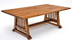 """Bungalow Dining Table - Design #1 - Item #DT00147 - Made from Solid Hardwood & Hand Forged Hardware - 60""""L or 72""""L - 31""""W - 48""""W"""