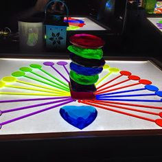 Colorful light table designs