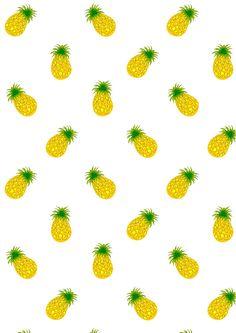 FREE printable pineapple pattern paper | #fruitysummer