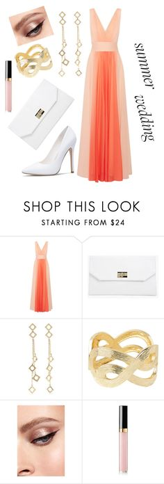 """Summer White Wedding"" by paulaj87 ❤ liked on Polyvore featuring Halston Heritage, Boohoo, Arme De L'Amour, Lilly Pulitzer and Chanel"