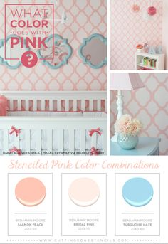 What Color Goes With Pink? Stenciled Pink Color Combinations :: Hometalk
