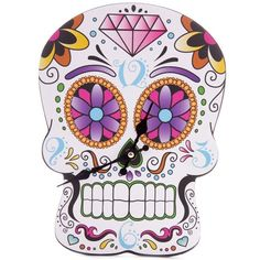15.48$  Buy now - http://didzn.justgood.pw/go.php?t=196249401 - Colorful Skull Art Wall Sticker Clock
