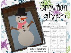 Freebielicious: Snowman Glyph. Fun bulletin board idea for winter!