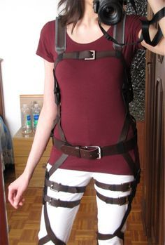 attack on titan harness tutorial diy cosplay - COSPLAY IS BAEEE!!! Tap the pin now to grab yourself some BAE Cosplay leggings and shirts! From super hero fitness leggings, super hero fitness shirts, and so much more that wil make you say YASSS!!!
