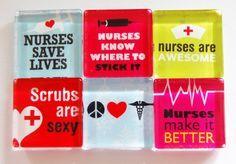Nurse Fridge Magnets Glass Magnets Gift for nurse by KellysMagnets, $9.50