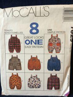"McCall's 7829 sizes S, M, L, XL (25-26"", 27-28"", 29-30"", 31-32"") copyright 1995"