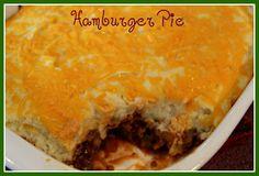 Sweet Tea and Cornbread: Hamburger Pie!