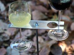 Boho+Double+Wine+Glass+Holder/+Garden+Wine+Holder+by+stripeycity,+$45.00