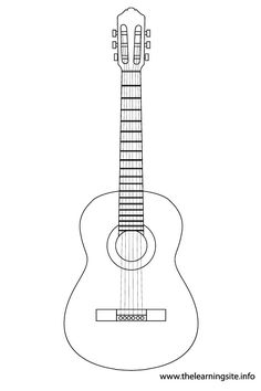 Electric guitar pattern. Use the printable outline for