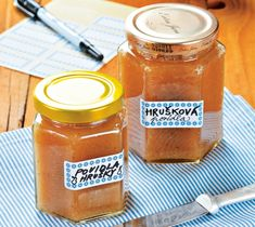 Czech Recipes, Home Canning, Salsa, Spices, Honey, Food And Drink, Menu, Jar, Cooking