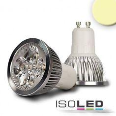 GU10 LED Leuchtmittel 4x1W, 45°, warmweiss / LED24-LED Shop