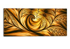 Golden Dream Abstract Graphic Art on Gallery Wrapped Canvas