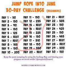 Jump rope workout, Jump rope challenge, 30 day fitness, Jump rope, Workout challenge Rope exercises - Jump Rope Into June Challenge jijc - Jump Rope Challenge, June Challenge, 30 Day Workout Challenge, Thigh Challenge, Plank Challenge, At Home Workout Plan, At Home Workouts, Rope Exercises, Sport Fitness