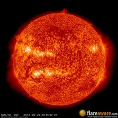 The hourly sun (at 08:44 pm  UTC on 23 May 2013)