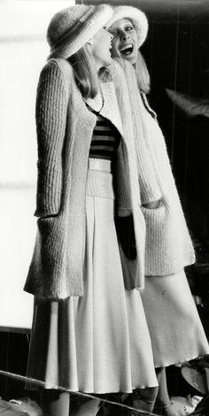 Model Jan Shearer in Sonia Rykiel