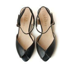 Black Adelle Sandals  Handmade by LieblingShoes,