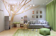 Jugendlichenzimmer nach Thema 'Wald' modern gestalten