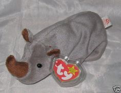 SPIKE the Rhino - Ty Beanie Baby (beanies, babies) Beenie Babies, Baby Beanies, Ty Beanie, Pillows, Baby Bonnets, Cushions, Pillow Forms, Cushion, Scatter Cushions