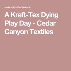 A Kraft-Tex Dying Play Day - Cedar Canyon Textiles