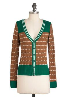 Mint Mocha Latte Cardigan from #ModCloth. This reminds me of Girl Scout cookies.
