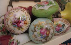rose porcelain door knobs