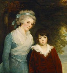 1796  The Athenaeum - The Marquise de Sivrac de Rieux and Her Son, Charles (John Hoppner - )