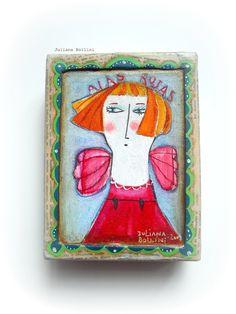 Paper Art, Paper Crafts, Diy Crafts, Angel Artwork, Shadow Box Art, Small Canvas Art, Arte Popular, Paper Beads, Sculpture