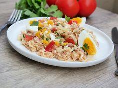 Salade de pâtes thon, œufs et tomates   Aux Fourneaux