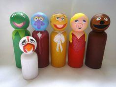 The Muppets Peg Doll Set