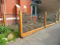 Metal art front fence and gate   Flickr - Photo Sharing!