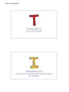 Bible Verse Cards (Unit 5)