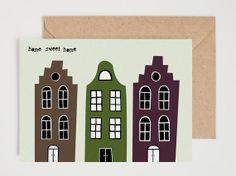 Greeting card... Home sweet home... van Heedopter op Etsy, €2.95