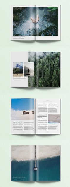 editorial layout Sequoia Magazine is a Adobe InDesign template. This magazine features hipster, modern design and it is ideal for publications on lifestyle, travel, fashion, m Magazine Layout Design, Book Design Layout, Magazine Layouts, Mise En Page Magazine, Elle Magazine, Magazine Editorial, Magazine Spreads, Grafik Magazine, Editorial Design