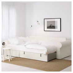 BACKABRO Slaapbank met chaise longue - -, Nordvalla donkergrijs - IKEA - comes with storage in the chaise lounge part Ikea Sofas, Ikea Sofa Bed, Sofa Bed Frame, Sofa Bed With Chaise, Bedroom Sofa, Futon Sofa, Chair Bed, Bedroom Furniture, Bed Storage