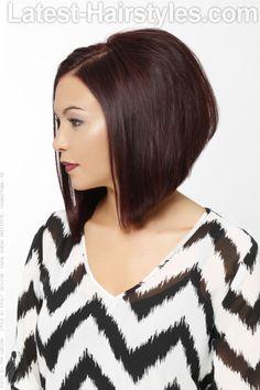 Soft Violet Haircolor for Fall SIde