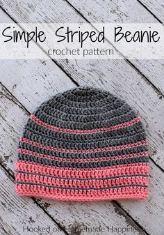 Simple Striped Crochet Beanie Pattern (Crochet Along for a Cause) | Hooked on Homemade Happiness
