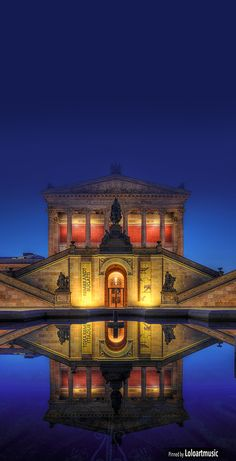 The Old National Gallery, Berlin, GERMANY has an incredible collection of neoclassical, romantic & impressionist. A UNESCO World Heritage Site.