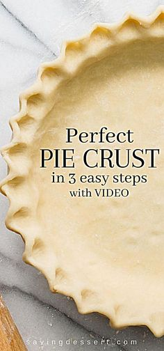 Perfect Pie Crust Recipe in steps - With just a little patience and practice you can make flaky delicious pastry for all your favorite pie recipes pie piecrust piepastry dessertpies savingroomfordessert savorypies pastry crust perfectpies crustrecipe Easy Pie Crust, Homemade Pie Crusts, Pie Crust Recipes, Pastry Recipes, Baking Recipes, Best Pie Crust Recipe, Single Pie Crust Recipe Crisco, Recipe For Pastry, Pie Crust Recipe With Margarine
