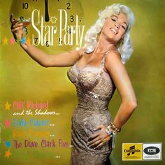 One of the rarest of Jayne Mansfield's album covers is 1967's Star Party. Released in South Africa only, the LP features the music of Cliff Richard & The Shadows, Eddie Calvert, Russ Conway, The Dave Clark Five, & Victor Sylvester.