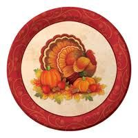 'Thanksgiving Scroll' Dinner Plates