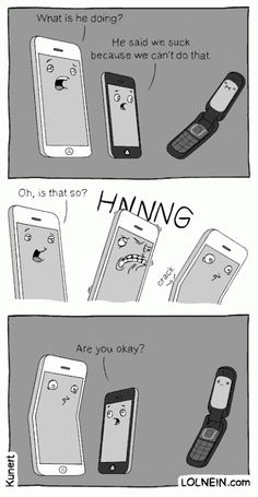 An #iPhone and its struggles... ;-)