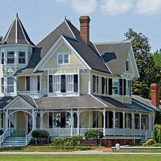 House of my dreams <3 wrap around porch