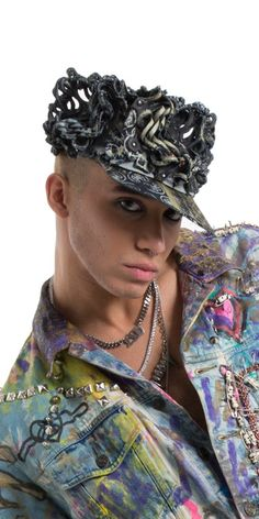 9d2cf4f9429 Hand crafted couture cap Artist  Daniel Chimowitz for Patricia Field  ARTFASHION. 100% genuine