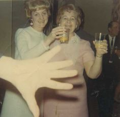 Mom and grams having a drink.....again!