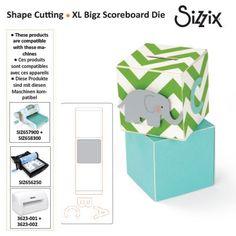 Sizzix scoreboards XL die block cube bank 3D
