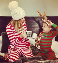 Hey Hey and Happy Friday!!!! Be sure to hop on over to Tawnini.com and check out my lil Monkey  and me in our personalized Christmas PJ's from @stashtulsa as well as some other fun Christmas goodies